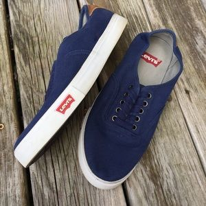 Levi's Navy Canvas Sneakers size 10